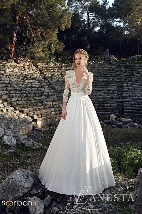 لباس عروس آستین سه ربع5
