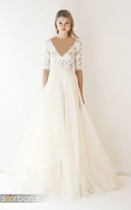 لباس عروس آستین سه ربع6