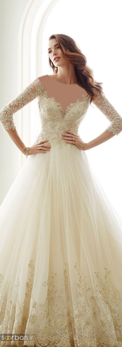 لباس عروس آستین سه ربع