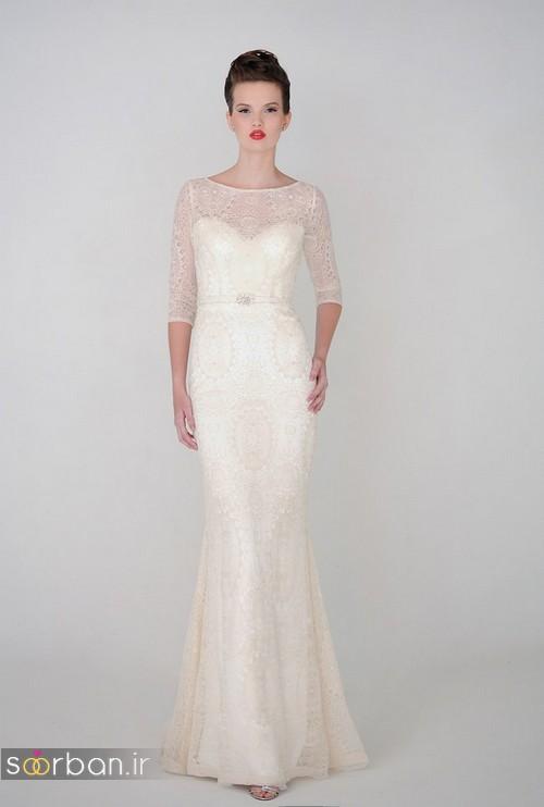 لباس عروس آستین سه ربع12