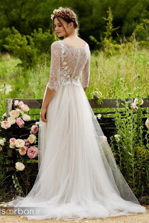 لباس عروس آستین سه ربع13