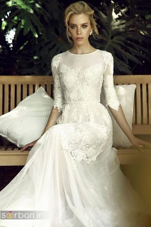 لباس عروس آستین سه ربع15