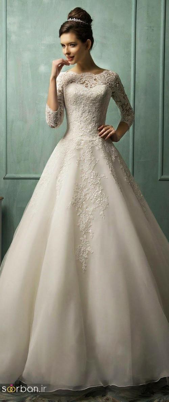 لباس عروس آستین سه ربع16