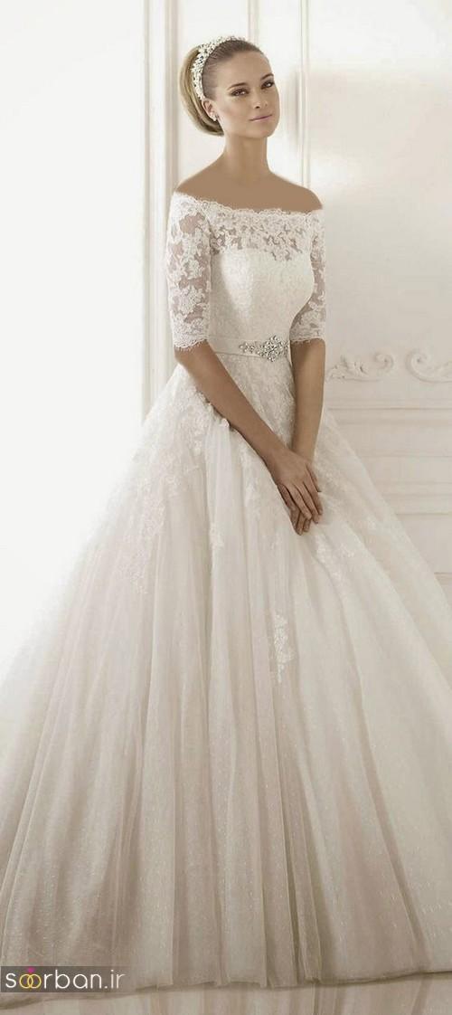 لباس عروس آستین سه ربع17