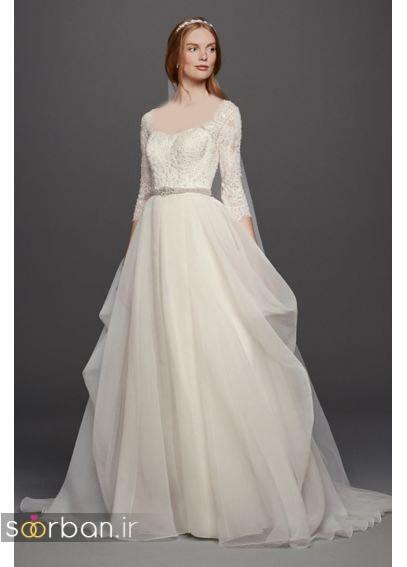 لباس عروس آستین سه ربع18