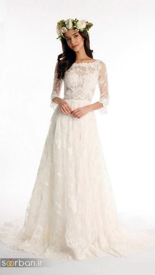 لباس عروس آستین سه ربع19
