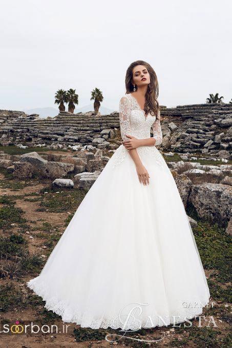 لباس عروس آستین سه ربع22
