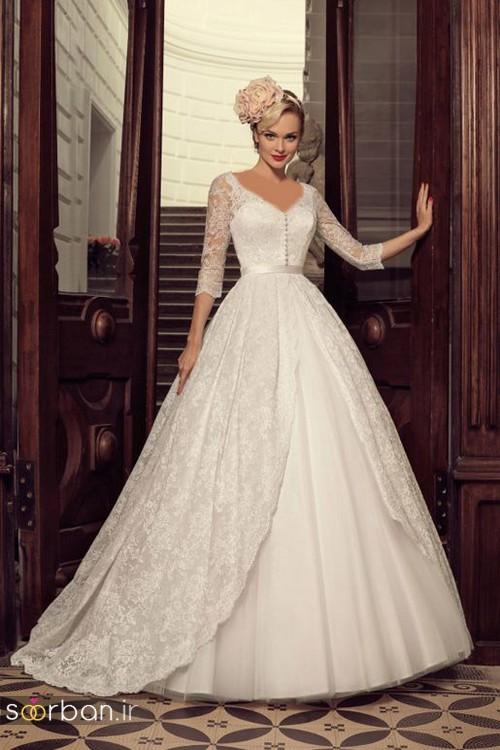 لباس عروس آستین سه ربع23