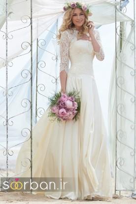 لباس عروس آستین سه ربع24