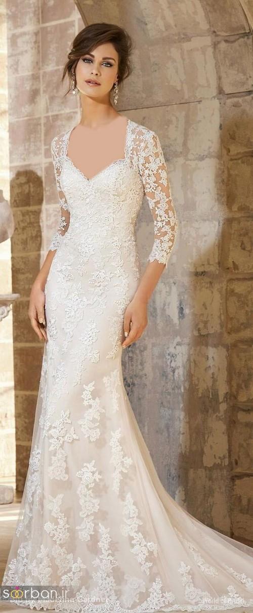 لباس عروس آستین سه ربع25
