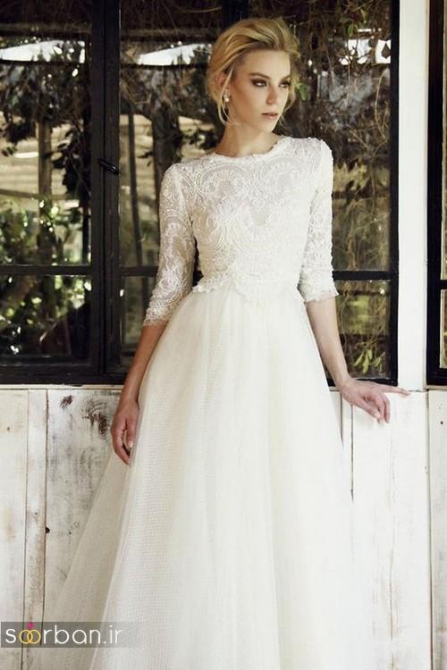 لباس عروس آستین سه ربع26