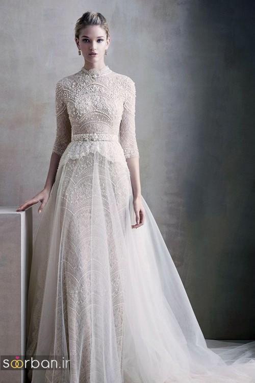 لباس عروس آستین سه ربع27