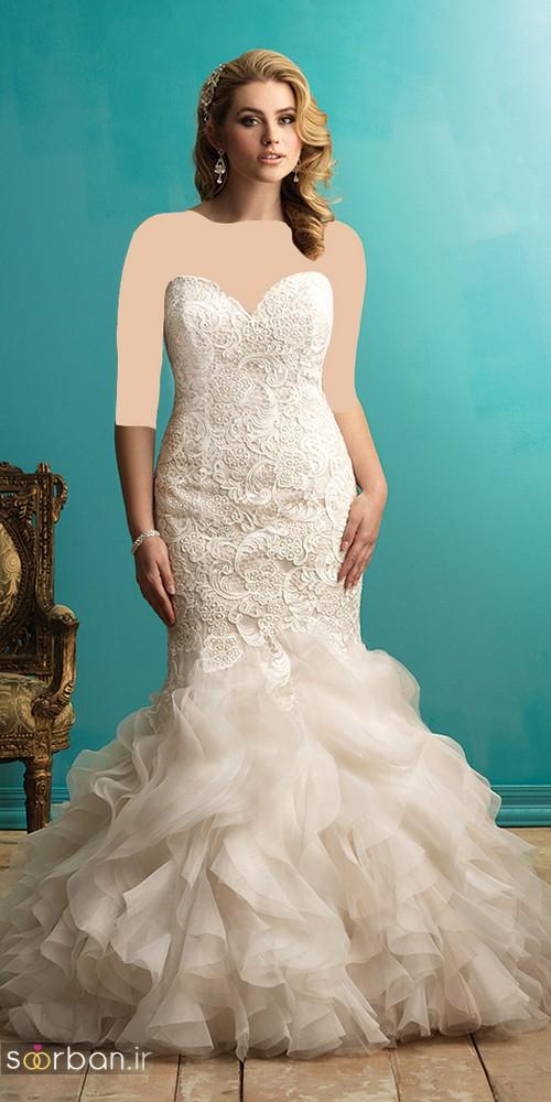 مدل لباس عروس دکلته سایز بزرگ 2017