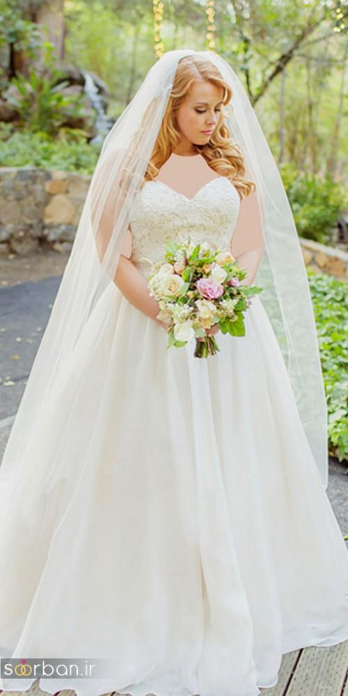 مدل لباس عروس سایز بزرگ 2017 برای عروس های درشت اندام و تپل