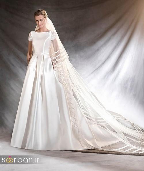 لباس عروس آستین کوتاه جدید 2017