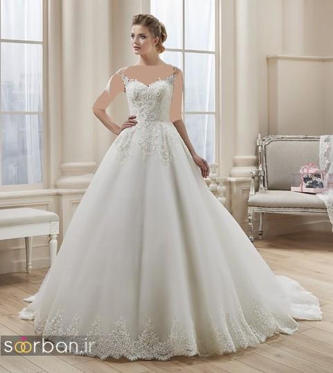 لباس عروس ترک پفی 2017