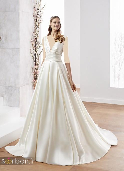 لباس عروس ترک 2017 با ساتن