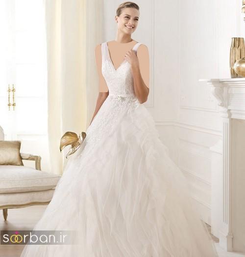 لباس عروس ترک 2017 با دامن توری
