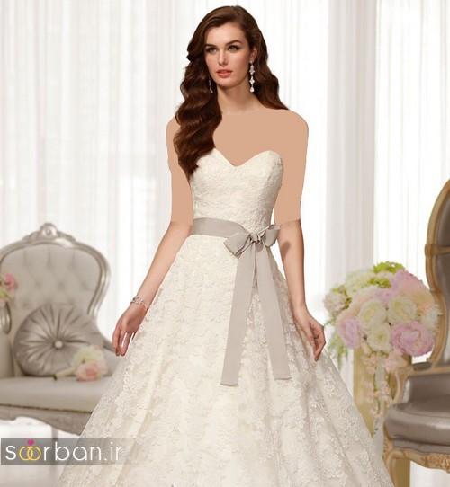 لباس عروس ترک 2017 با کمربند