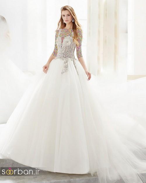 لباس عروس پفی 2018 شیک و بسیار زیبا