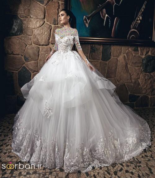 لباس عروس پفی 2018 شیک جدید