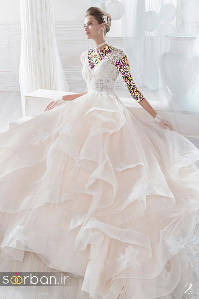 مدل لباس عروس پفی 2018 شیک و زیبا