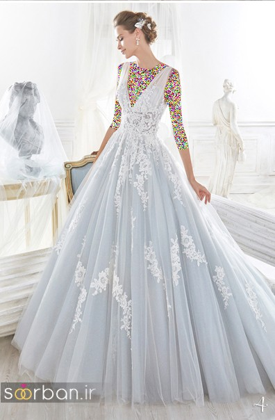 لباس عروس پفی 2018 شیک و شیک و زیبا