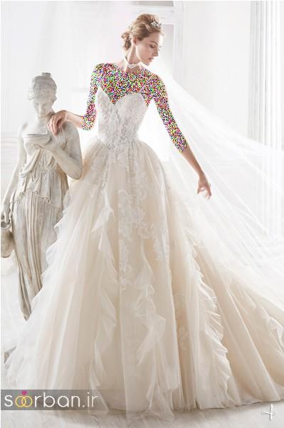 لباس عروس پفی 2018 شیک و جدید
