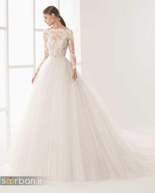 لباس عروس آستین دار بسیار زیبا 2017