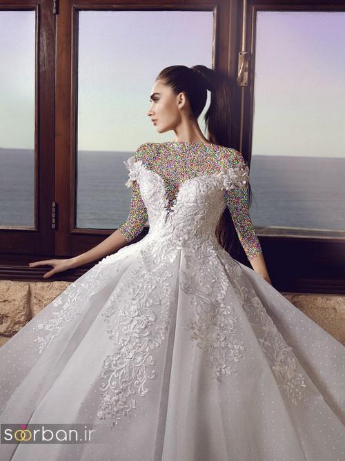 مدل لباس عروسی پرنسسی جدید شیک