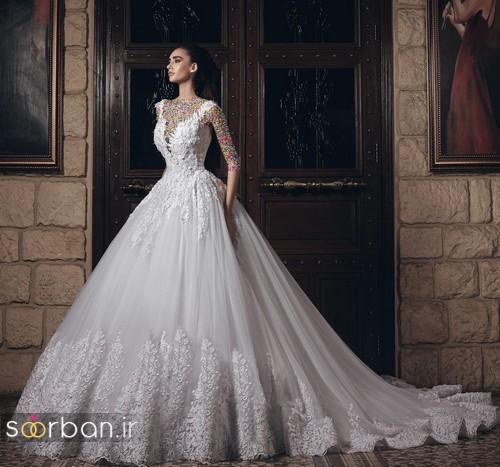 مدل لباس عروسی پرنسسی مدل لباس عروسی پرنسسی جدید شیک وزیبا دنباله دار