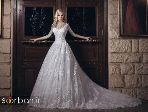 مدل لباس عروسی پرنسسی جدید شیک وجدید