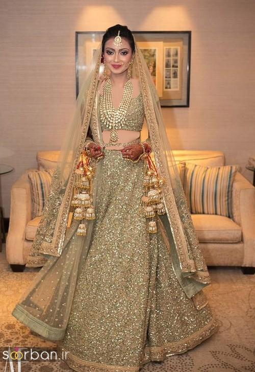 عکس لباس عروس هندی بلند جدید