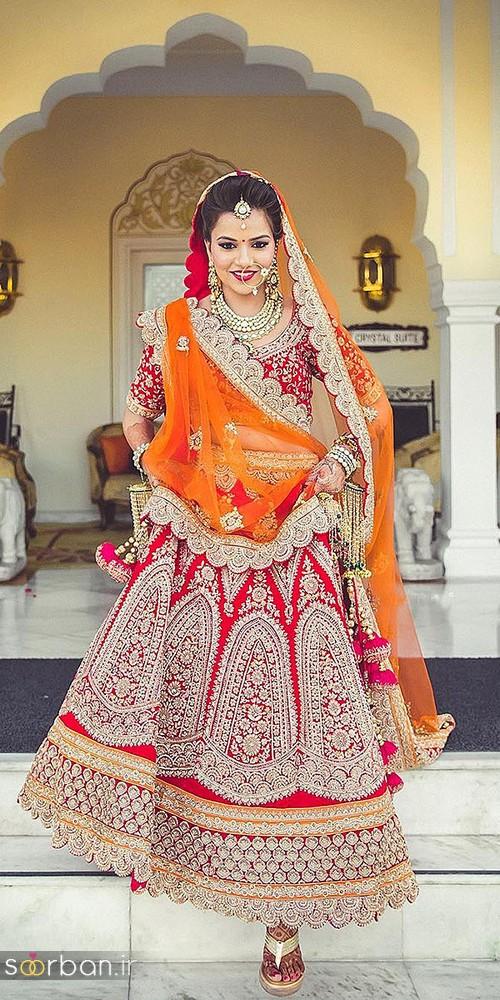 مدل لباس عروس هندی بلند