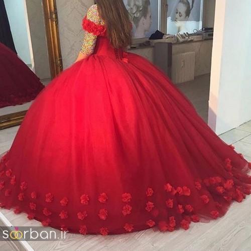 مدل لباس حنابندان، عقد و نامزدی قرمز بلند زیبا و بلند 96