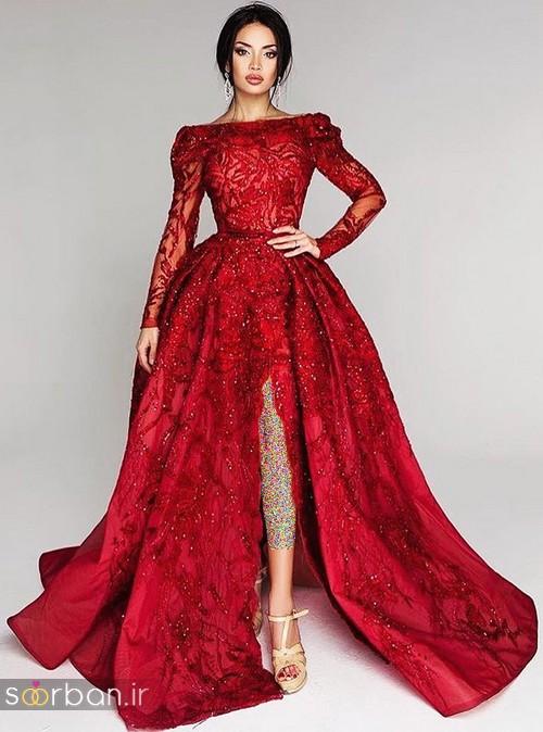 عکس لباس حنابندان، عقد و نامزدی قرمز