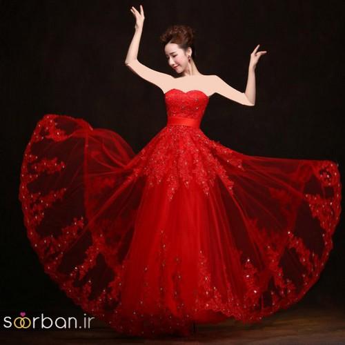 لباس حنابندان، عقد و نامزدی قرمز و مجلسی بلند