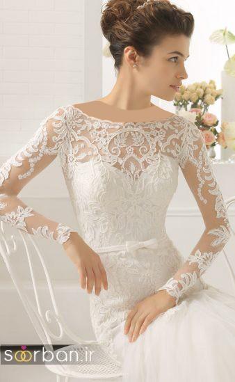 عکس مدل لباس عروس آستین دار