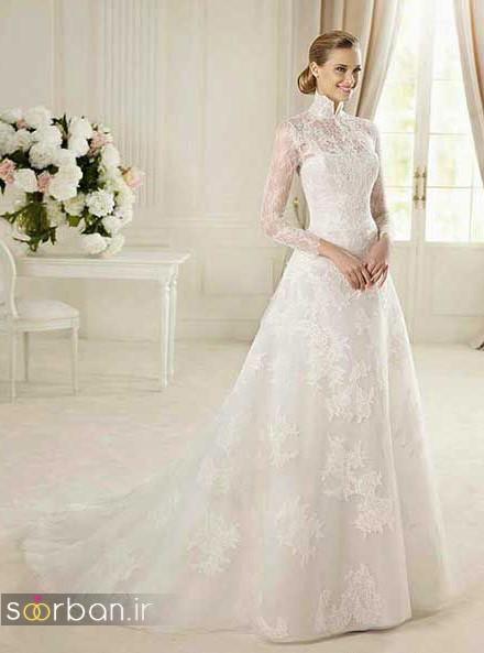 عکس مدل لباس عروس آستین دار 2018