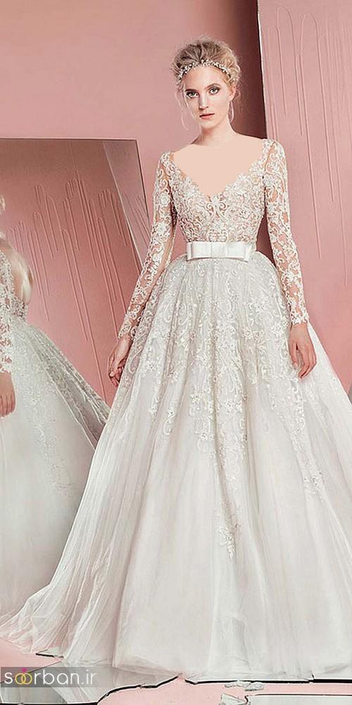 مدل لباس عروس آستین دار 2018 متفاوت
