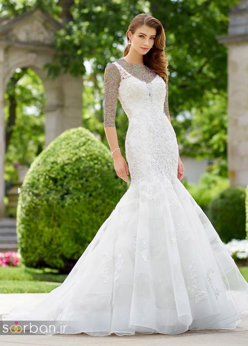محبوبترین لباس عروس 2018 آستین سه ربع