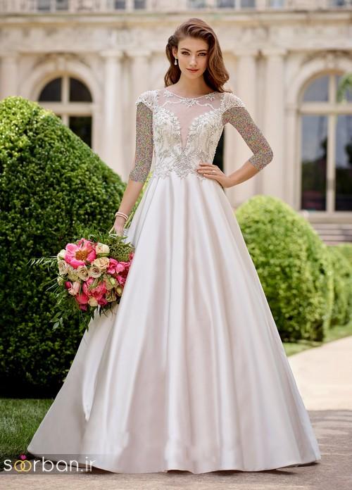 محبوبترین لباس عروس 2018 آستین سه ربع18