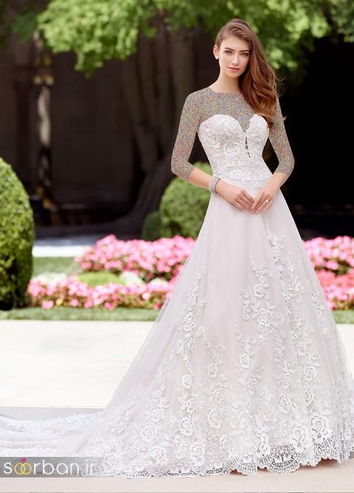 محبوبترین لباس عروس 2018 آستین سه ربع19