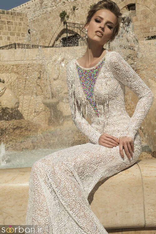 لباس عروس آستین بلند1