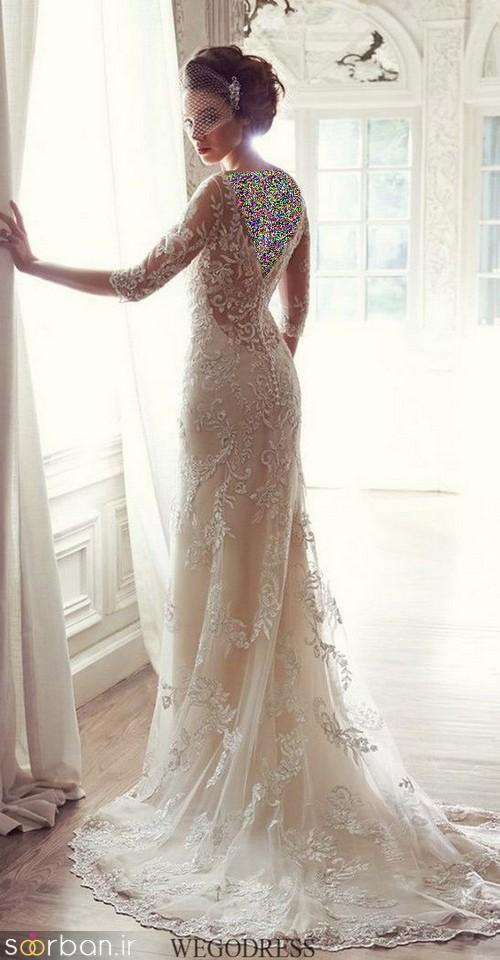 لباس عروس آستین بلند3