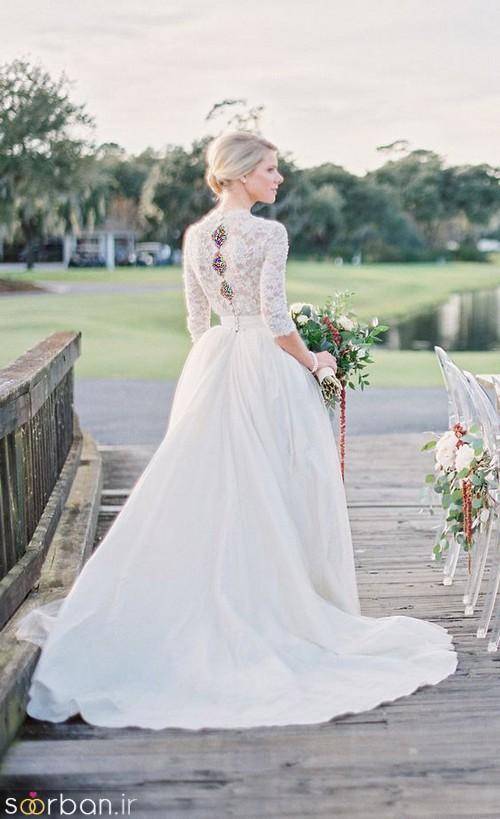 لباس عروس آستین بلند4