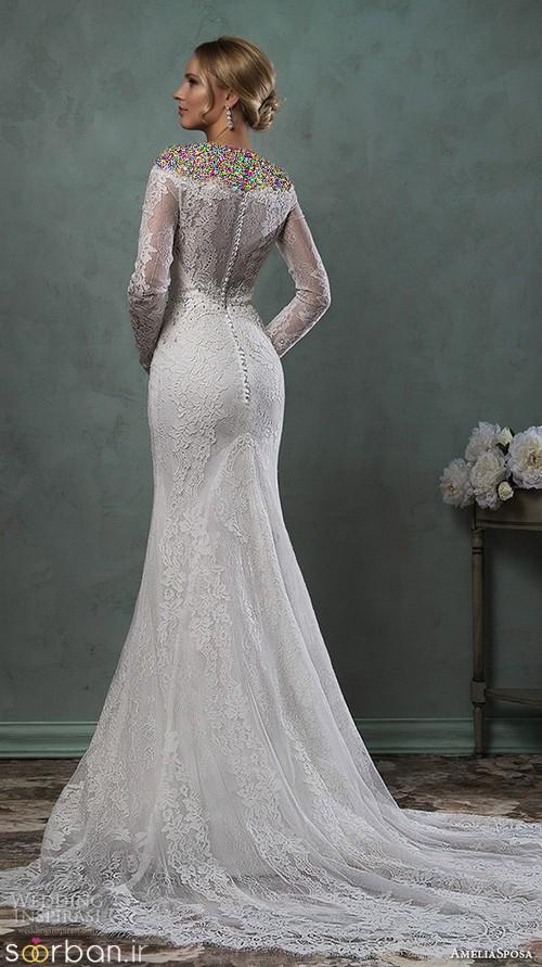 لباس عروس آستین بلند6