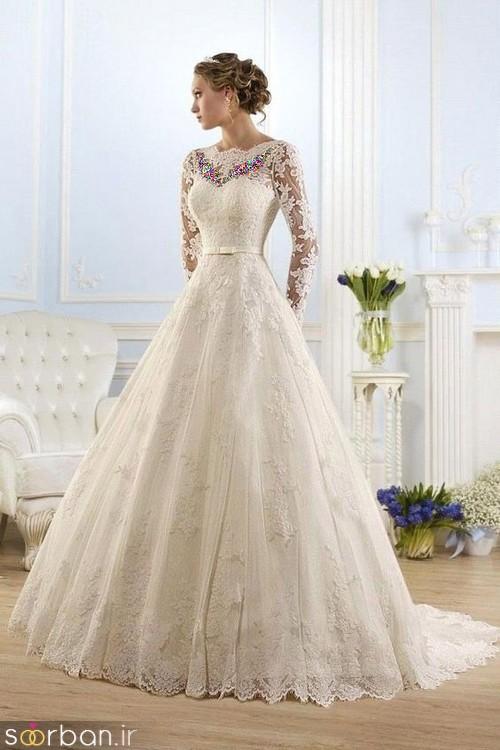 لباس عروس آستین بلند9