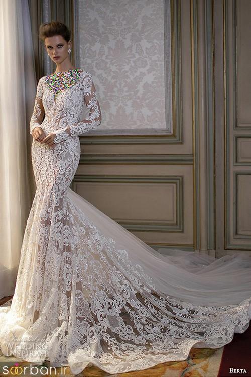 لباس عروس آستین بلند11