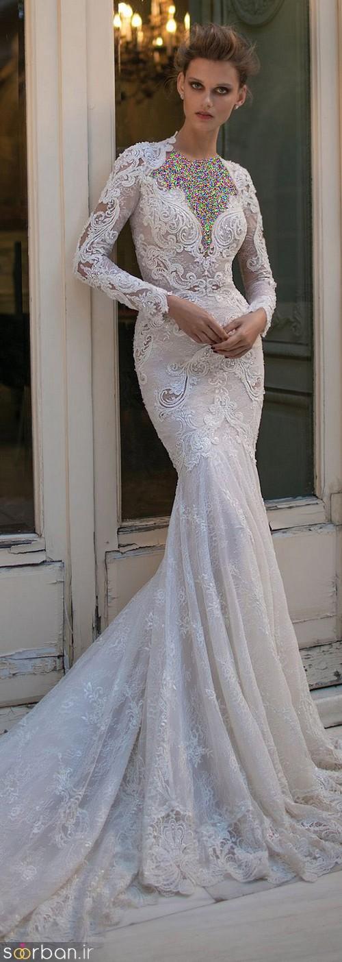 لباس عروس آستین بلند12